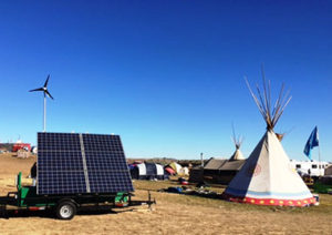 Sundance helps  provide power at the Standing Rock protest